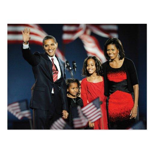 Obama Family Election Night Postcard