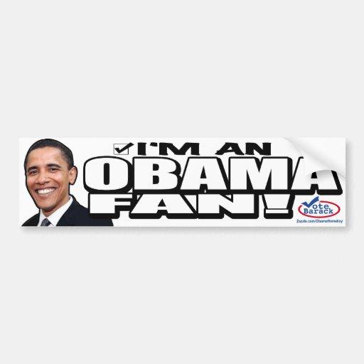 Obama Fan Bumper Sticker