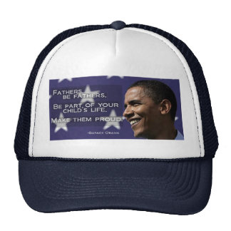 "Obama ""Fathers... make them proud."" Cap"
