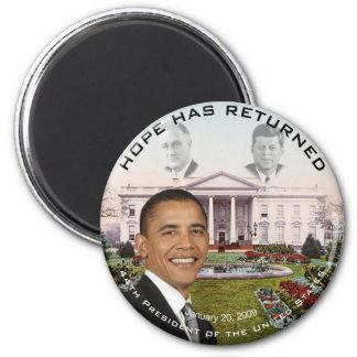 Obama FDR JFK Hope Has Returned Jan 20, 2009 Magnet