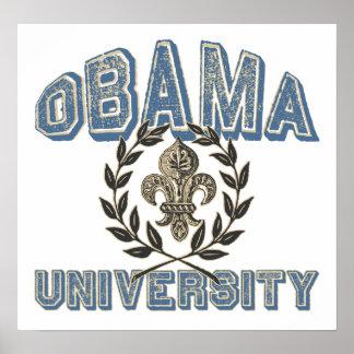 Obama Fleur University Print