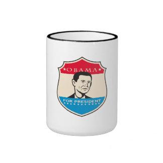 Obama For American President Shield Coffee Mug