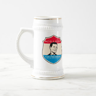 Obama For American President Shield Coffee Mugs