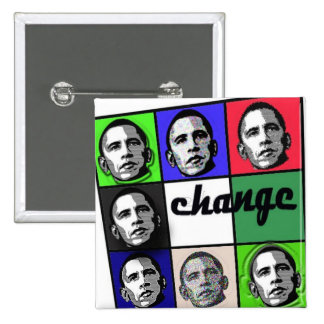 OBAMA FOR CHANGE PINBACK BUTTONS