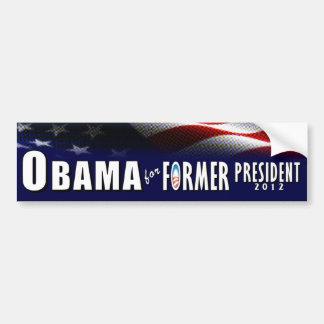 Obama for Former President 2012 Bumper Sticker