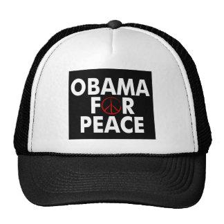 obama for peace dark shirt trucker hat