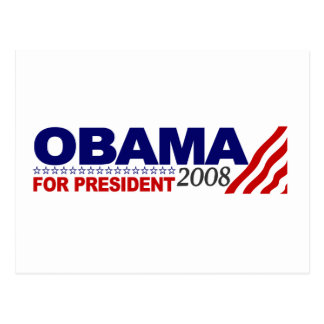 Obama For President 2008 Postcard
