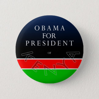 Obama For President of Kenya Button
