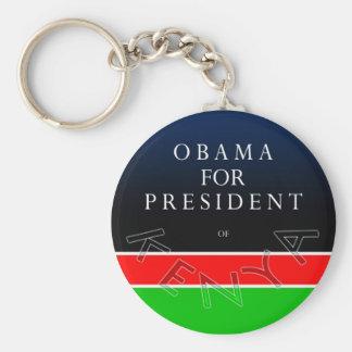 Obama For President of Kenya Keychain