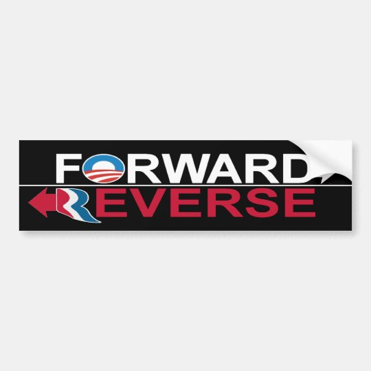 Obama Forward - Romney Reverse Bumper Sticker