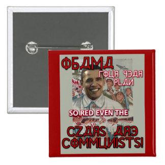 Obama Four Year Plan 15 Cm Square Badge