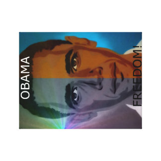 Obama Freedom Art Print Gallery Wrapped Canvas