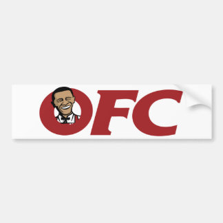 OBAMA FRIED CHICKEN BUMPER STICKER