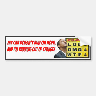 Obama Gas Bumper Sticker