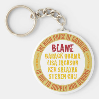 Obama Gasoline Basic Round Button Key Ring