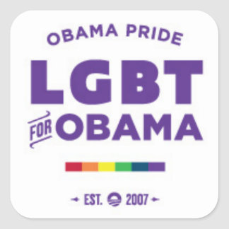 Obama Gay Pride Square Sticker
