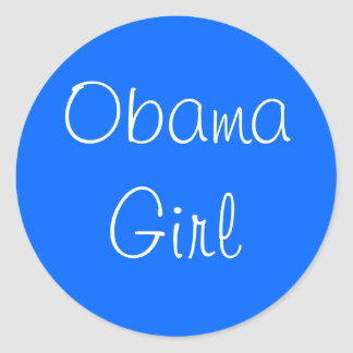 Obama Girl Classic Round Sticker