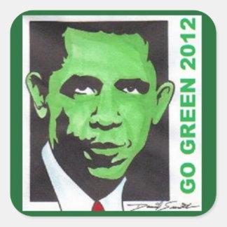 OBAMA GO GREEN 2012 Politcal VOTE ELECTION Sticker