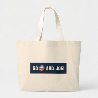 "Obama - Go ""O"" and Joe! Jumbo Tote Bag"
