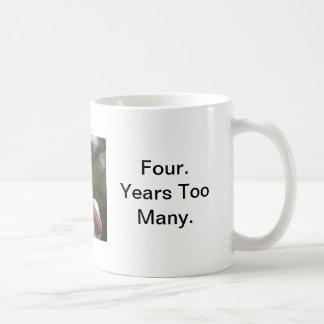 """Obama Golf """"Four Years Too Many"""" Basic White Mug"""