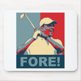 Obama Golfing FORE! Mouse Mat