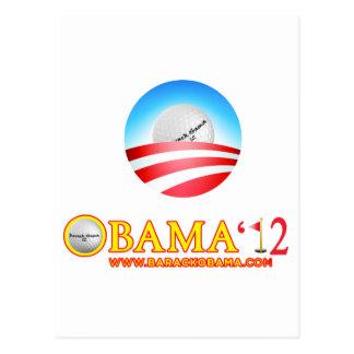 Obama Golfs-The Nation Burns Postcard