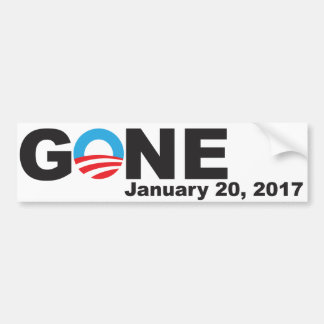 Obama Gone, 2017 Bumper Sticker
