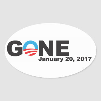 Obama Gone, 2017 Oval Sticker