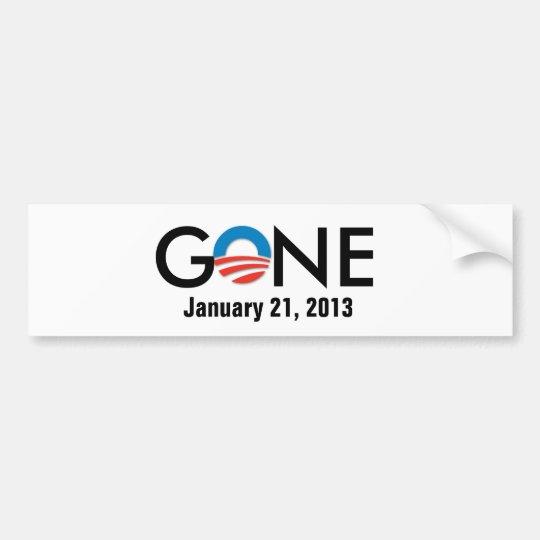 obama, GONE, January 21, 2013 Bumper Sticker