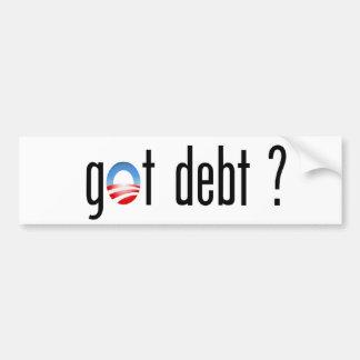 Obama Got Debt? Bumper Sticker