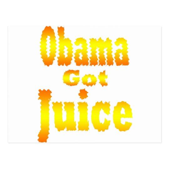 Obama Got Juice Orange Yellow Postcard