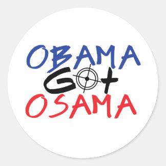 Obama Got Osama Round Sticker