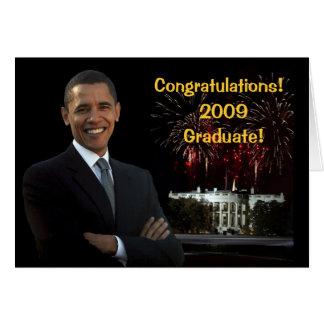 Obama Graduation Congratulations Card