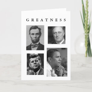 obama greatness celebrate inauguration new year holiday card
