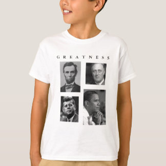 Obama GREATNESS Lincoln FDR JFK Obama - KIDS T-Shirt