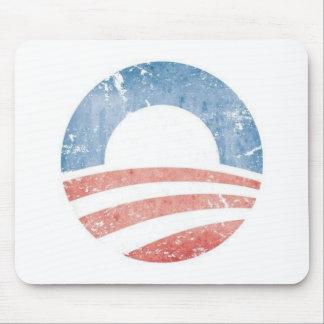 Obama Grunge Mouse Pads