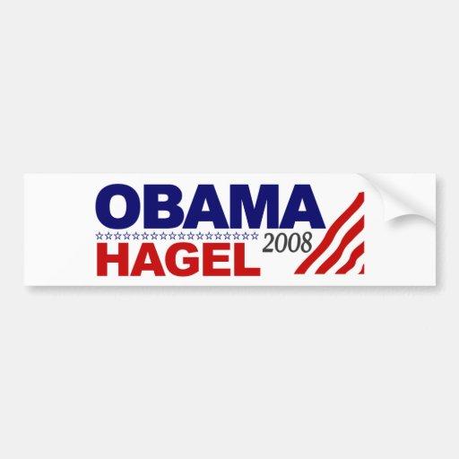Obama Hagel 2008 Bumper Sticker