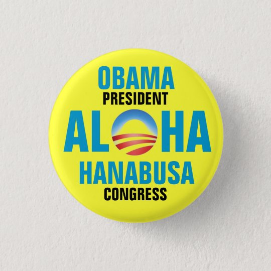 OBAMA/HANABUSA 2012 3 CM ROUND BADGE