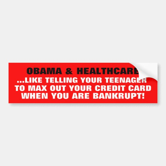 OBAMA & HEALTHCARE- THE FRAUD OF SOCIALISM! BUMPER STICKER