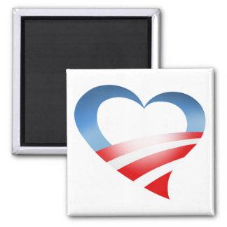 Obama Heart Logo Magnet (white)