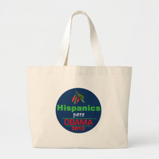 Obama HISPANICS Jumbo Tote Bag