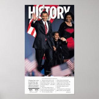 Obama: History Newspaper Poster