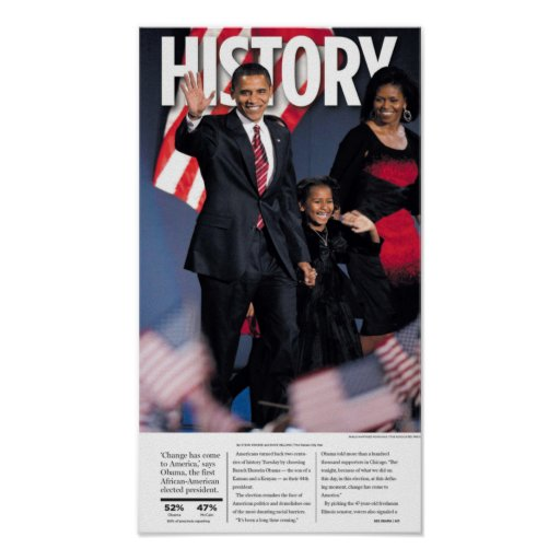 Obama: History Newspaper Poster