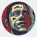 Obama History Round Sticker