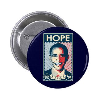 OBAMA HOPE 6 CM ROUND BADGE