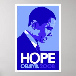 Obama - Hope Blue Poster
