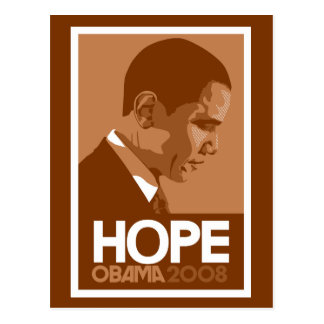 Obama Hope Brown Postcard