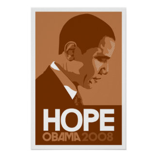 Obama - Hope Brown Poster