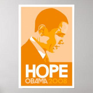 Obama - Hope Orange Poster