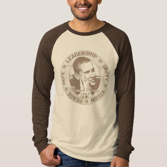 Obama Hope Peace Leadership Unity T-Shirt